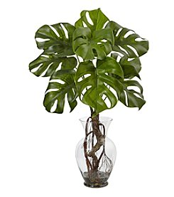 Nearly Natural® Monstera Plant with Vase