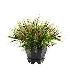 Nearly Natural® Grass with Planter