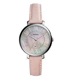 Fossil® Women's 36mm Jacqueline Blush Leather Watch