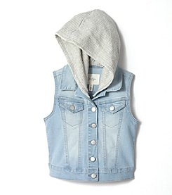 Jessica Simpson Girls' 7-16 Prairie Denim Vest