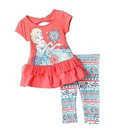 Disney® Girls' 2T-6X Elsa Peplum Tunic Leggings Set