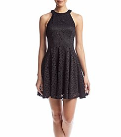 Be Bop Juniors' Lace Skater Dress