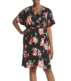 Living Doll® Plus Size Floral Wrap Dress