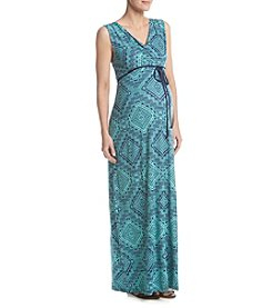 Three Seasons Maternity™ Geometric Print Maxi Dress