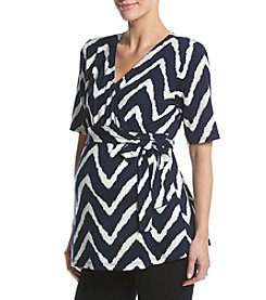 Three Seasons Maternity™ Chevron Print Surplice Top