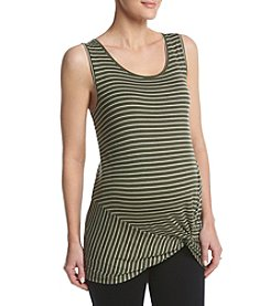Three Seasons Maternity™ Stripe Printed Knot Tank