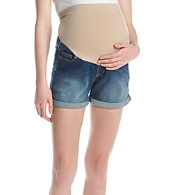 Three Seasons Maternity™ Roll Cuff Stretch Denim Shorts