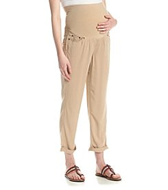 Three Seasons Maternity™ Cuffed Chino Ankle Pants