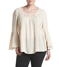 Cupio Plus Size Tie Back Knit Top