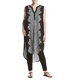 Cupio Plus Size Printed Super Tunic