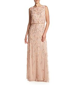 Adrianna Papell® Sheer Blouson Gown