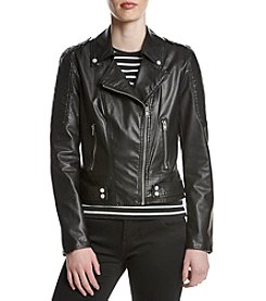 Andrew Marc® Asymmetrical Zip Moto Jacket