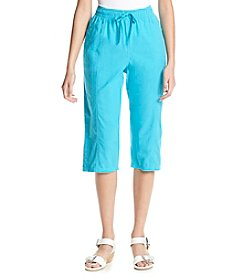 Breckenridge® Petites' Button Hem Sheeting Capris
