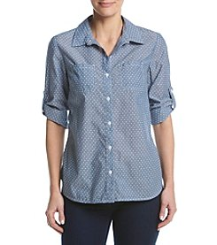 Studio Works® Chambray Print Camp Shirt