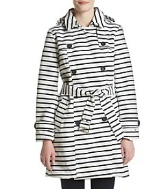 Tommy Hilfiger® Striped Belted Trench Coat