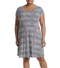 MICHAEL Michael Kors® Plus Size Reptile Print Flare Dress