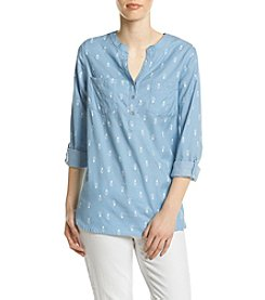 Le Tigre Pineapple Popover Blouse