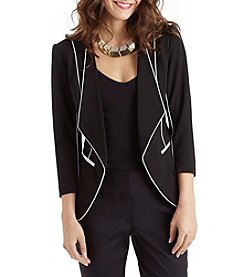 XOXO® Contrast Piped Blazer