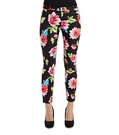 XOXO® Cropped Floral Pants
