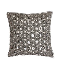 Winston Gemstone Beaded Decorative Pillow