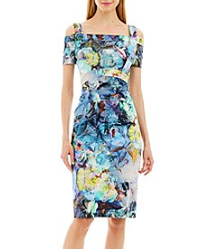 Nicole Miller New York™ Watercolor Cold Shoulder Dress