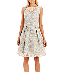 Nicole Miller New York® Metallic Lace Illusion Party Dress