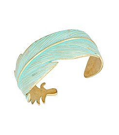 Lucky Brand® Patina Feather Cuff