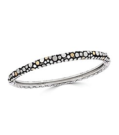 Effy® 925 Sterling Silver And 18K Yellow Gold Diamond Bangle