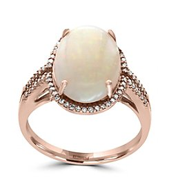 Effy® 14K Rose Gold Diamond And Opal Ring