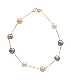 Effy® 14K Yellow Gold Pearl Station Bracelet
