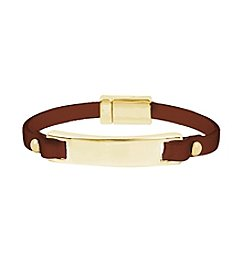 Kenneth Cole® Leather Bar Bracelet