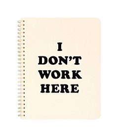 ban.do® Rough Draft Mini Notebook, I Don't Work Here