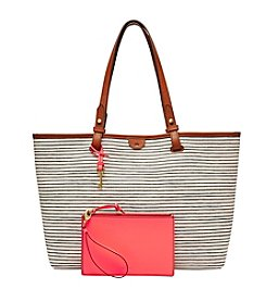 Fossil® Rachel Tote - Black Pin Stripe