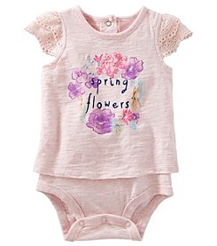 OshKosh B'Gosh® Baby Girls' Flowers Lace Bodysuit