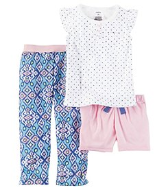 Carter's® Girls' 2T-6X 3-Piece Geo Print Pajama Set