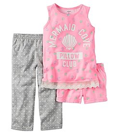 Carter's® Girls' 5-14 3-Piece Mermaid Cove Pajama Set