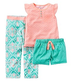 Carter's® Girls' 5-14 3-Piece Geo Print Pajama Set