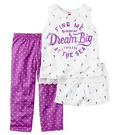 Carter's® Girls' 5-14 3-Piece Dream Big Pajama Set