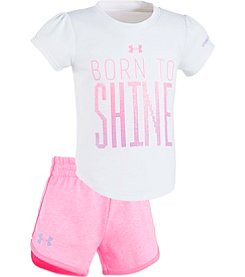 Under Armour® Girls' 12M-24M Born To Shine Shorts Set