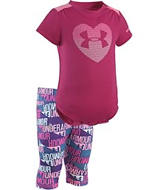 Under Armour® Baby Girls' Heart Bodysuit And Leggings Set