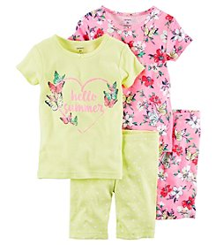 Carter's® Girls' 4-Piece Summer Sleepwear Set