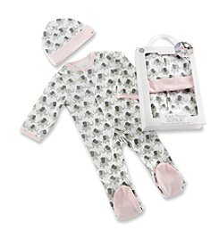 Baby Aspen Baby Girls' Little Peanut Elephant Pajama Gift Set