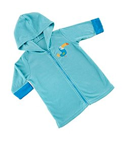 Baby Aspen Baby Boys' Tropical Toucan Hooded Zippered Beach Cover Up