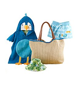 Baby Aspen Baby Boys' Tropical 4 Piece Gift Set With Raffia Tote for Mom