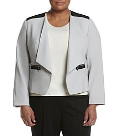 Nine West® Plus Size Wing Lapel Kiss Front Jacket