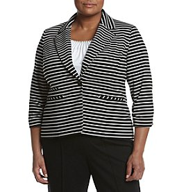 Nine West® Plus Size Striped Ponte Jacket