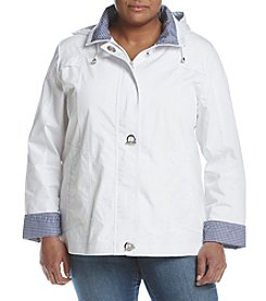 Mackintosh Plus Size Zip Front Jacket