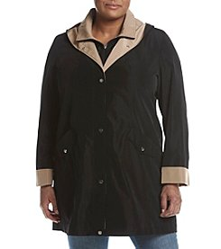 Breckenridge® Plus Size Solid Bibby Coat