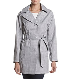 Relativity® Belted Printed Trench Coat