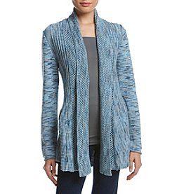 Studio Works® Petites' Space Dye Marled Fan Cardigan